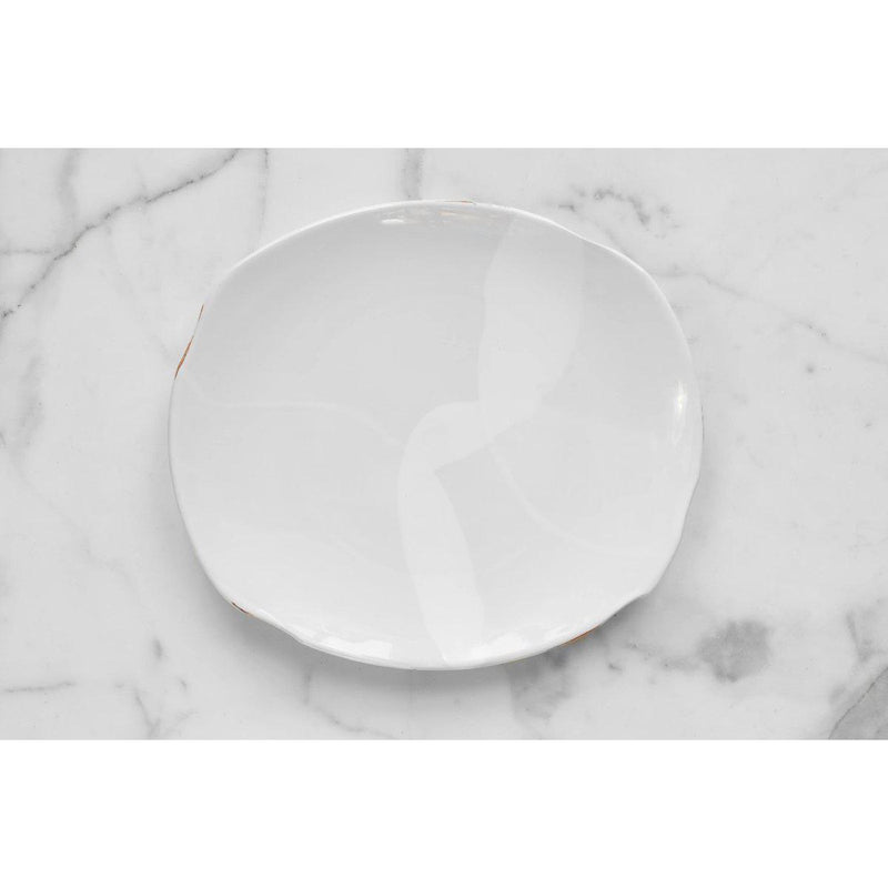 Exposed Edge Organic Dinner Plate