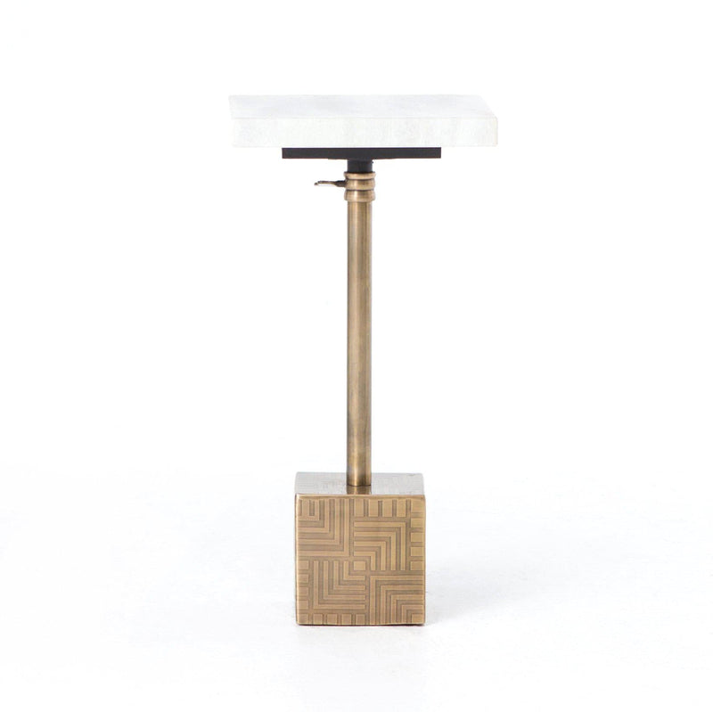 Sirius Brass Adjustable Accent Table