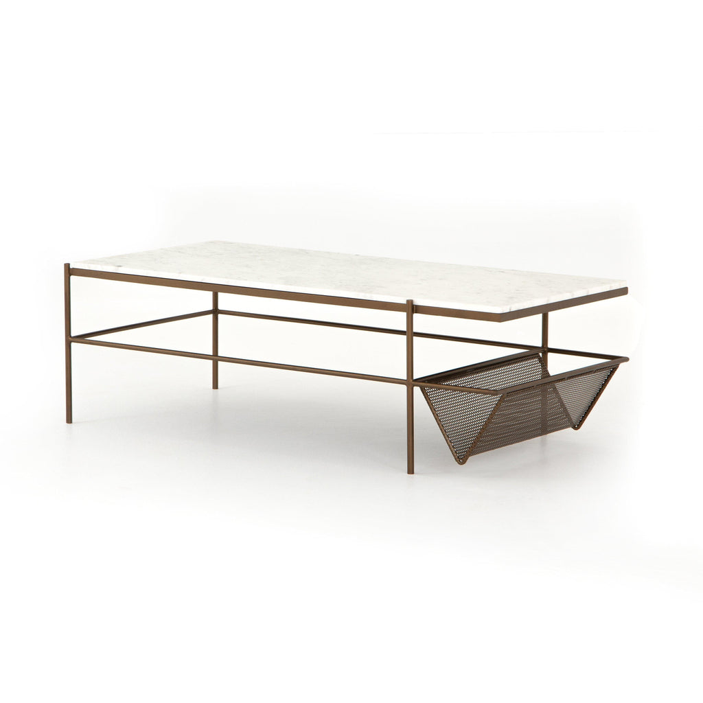 Felicity Coffee Table-Iron Matte Brass