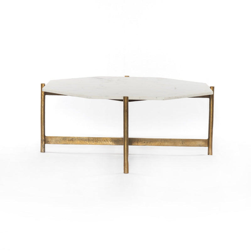 Adair Coffee Table-Raw Brass-