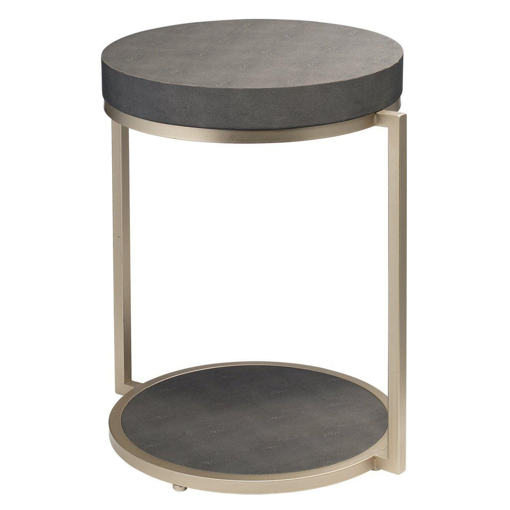 Chester Grey Shagreen Side Table