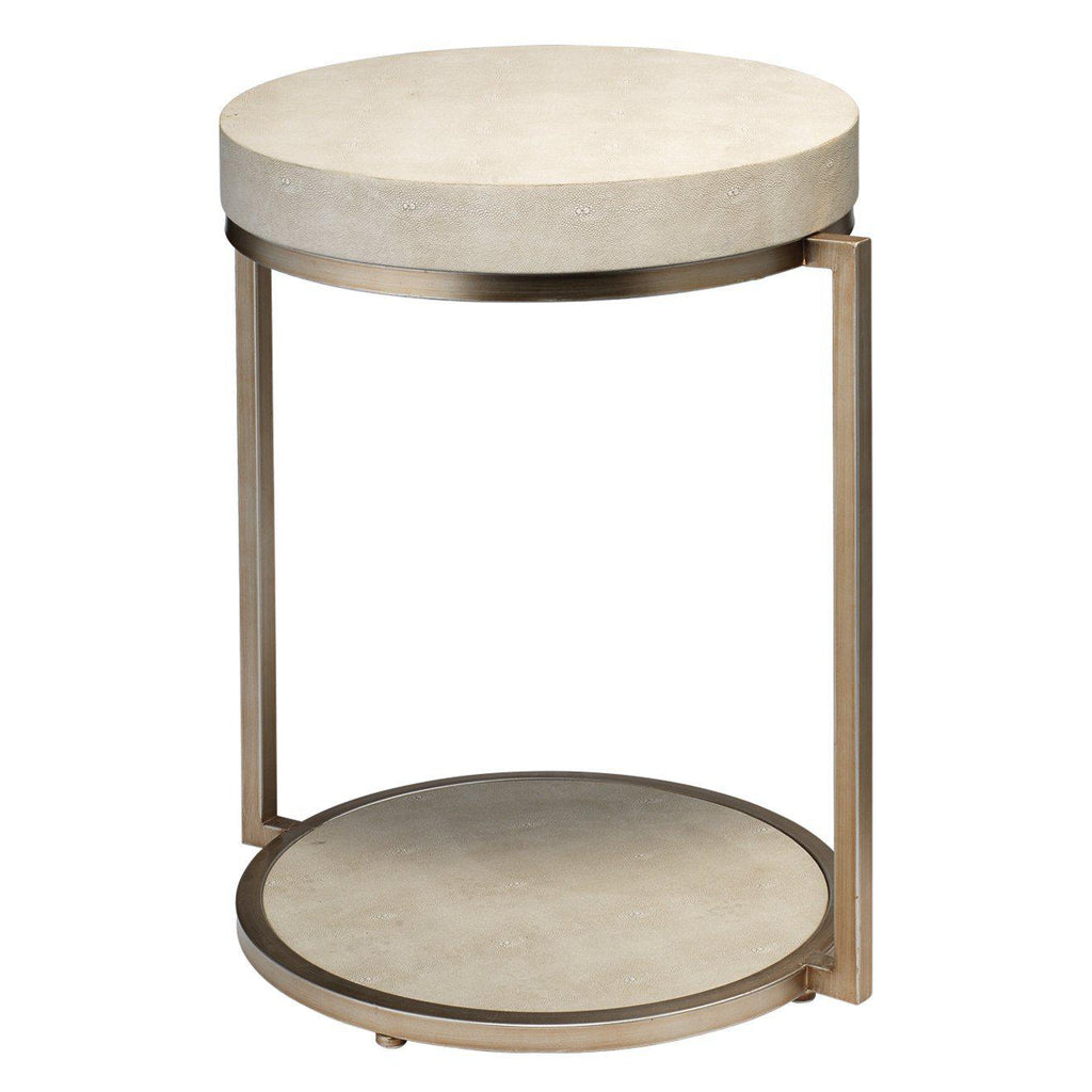 Chester Ivory Shagreen Side Table