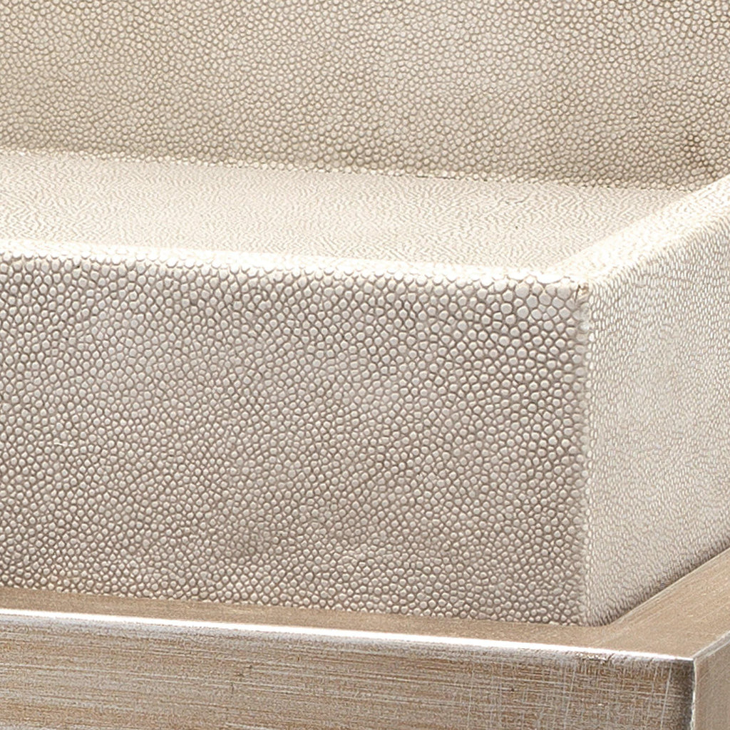 Ivory Shagreen Side Table