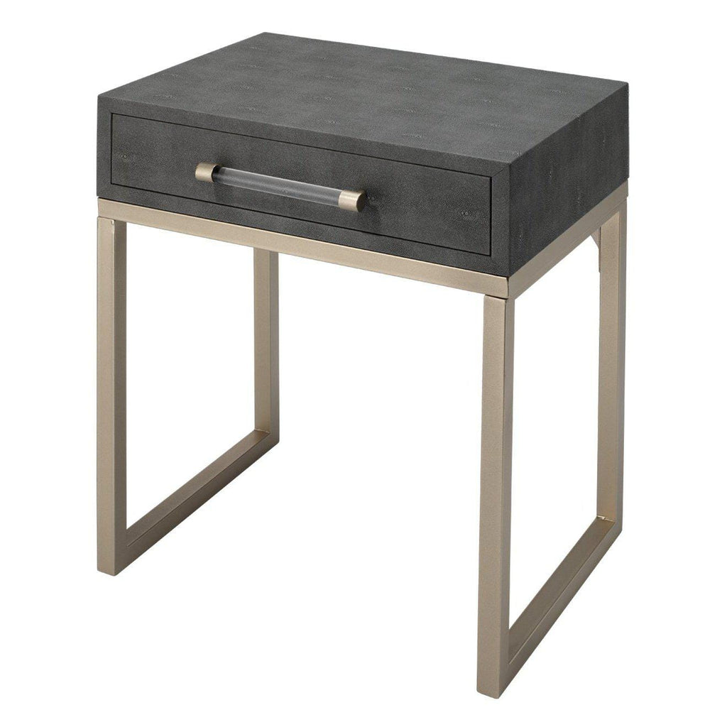 Kain Grey Shagreen Side Table