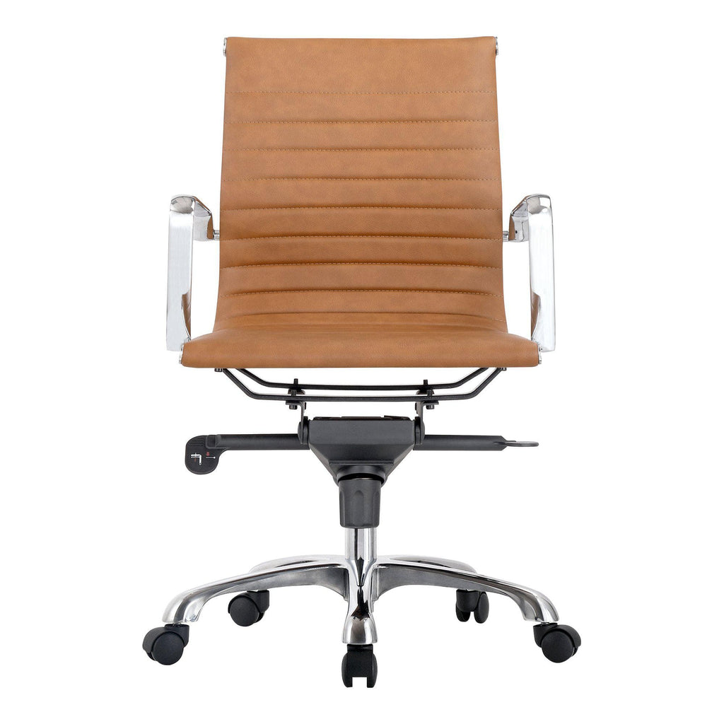 Omega Swivel Office Chair Low Back Tan