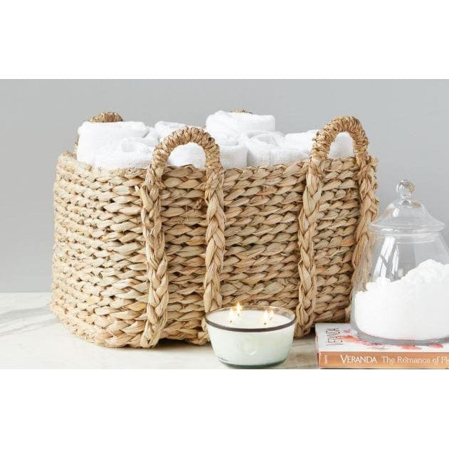 Rush Rectangle Basket, Large, 4 handles