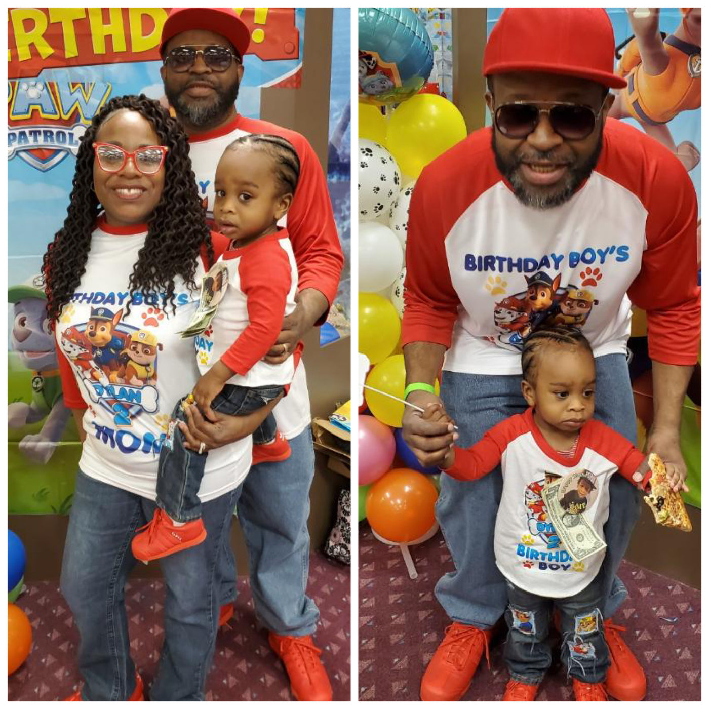 We make custom kids birthday party shirts come with any cartoon character or theme. Any color shirt, Free Custom Text any font. send us the cartoon theme you want to use and we'll customize a design for you. any size shirt.