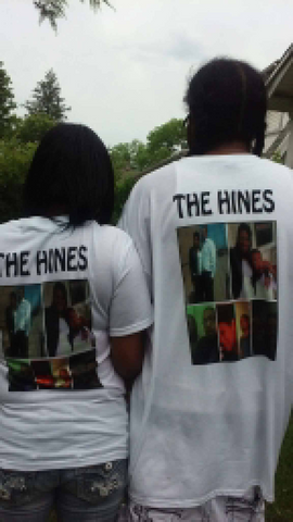 The Hines family in their custom family t-shirts by T-Shirt Kings.