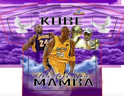 Kobe Bryant Memorial photo shirt