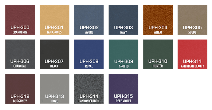 TuffStuff Vinyl Upholstery Color Choices