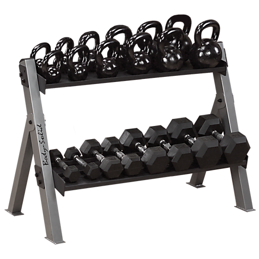 Body-Solid GDKR100 Dumbbell/Kettlebell Rack