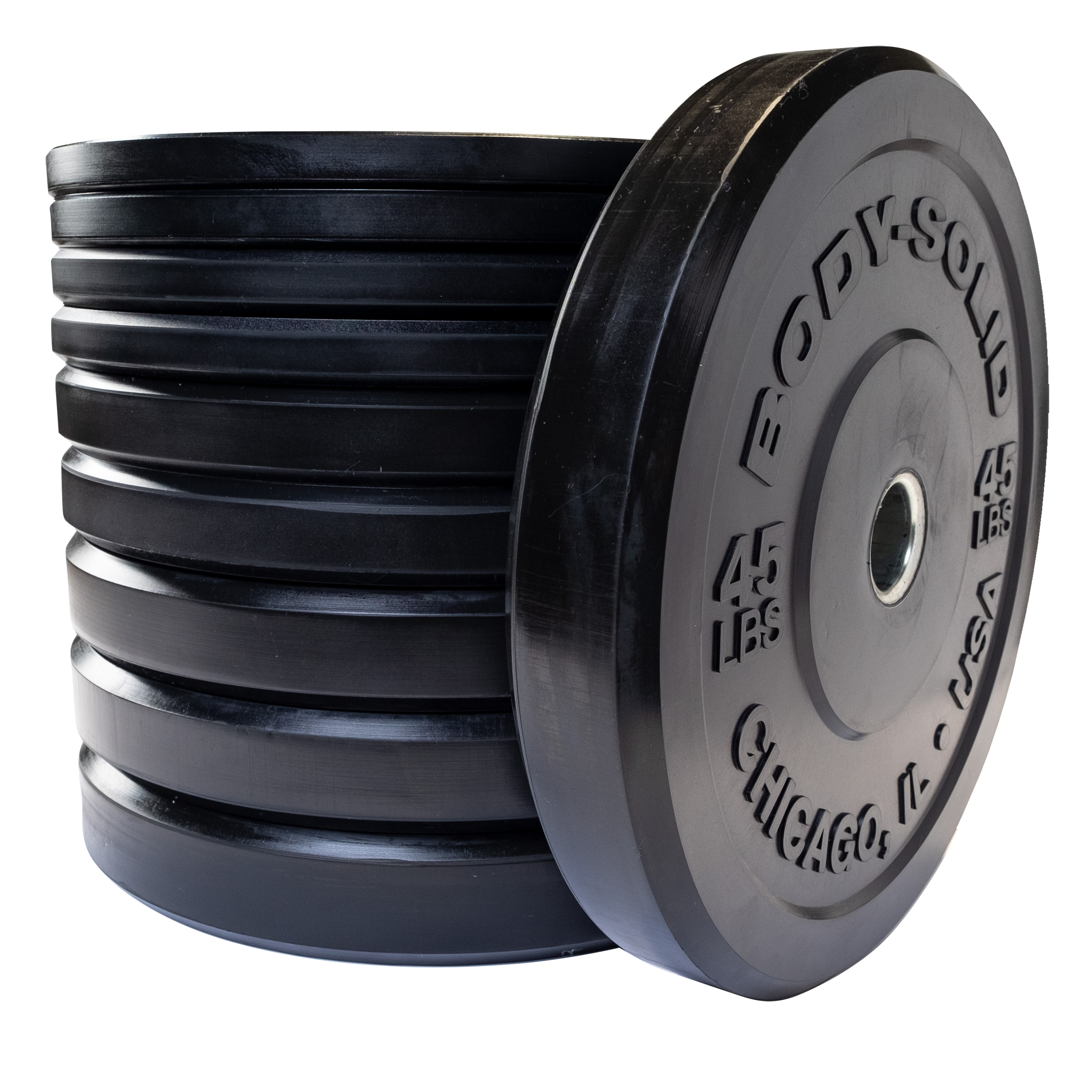 Body-Solid Chicago Extreme Bumper Plate 260lb Set