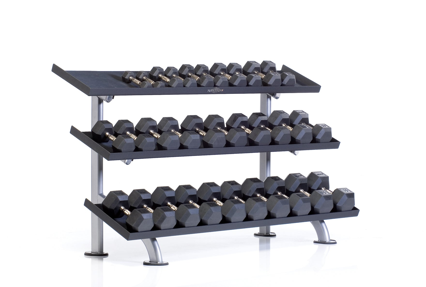 Tuff Stuff Proformance Plus PPF-754T 3-Tier Tray Dumbbell Rack