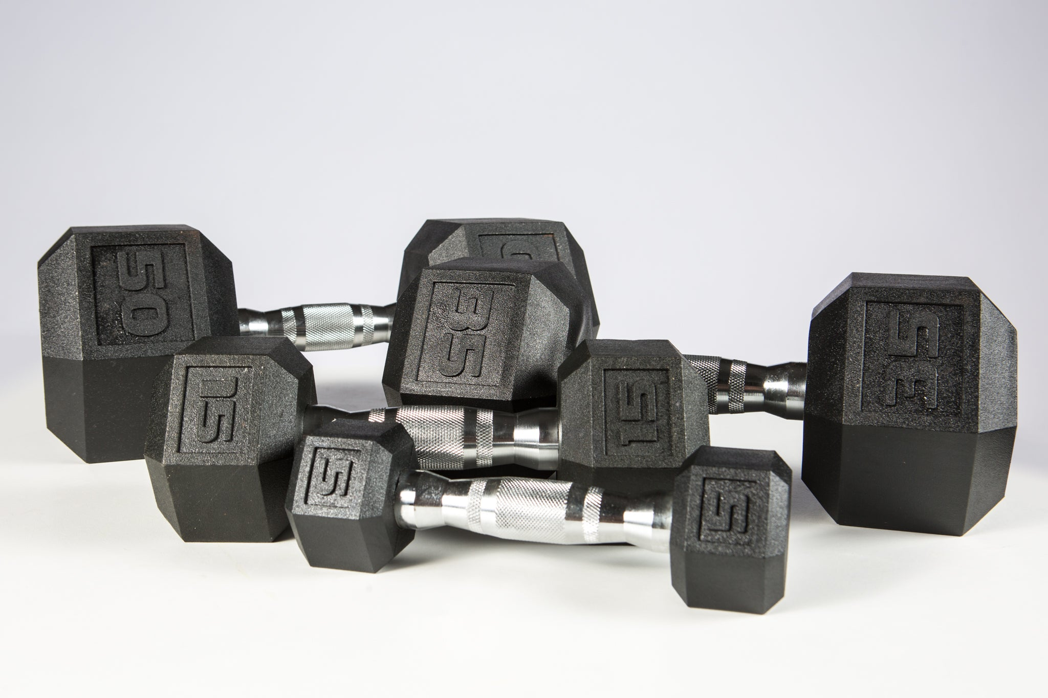 York Premium PVC Hex Dumbbell Set, 5 to 50lbs