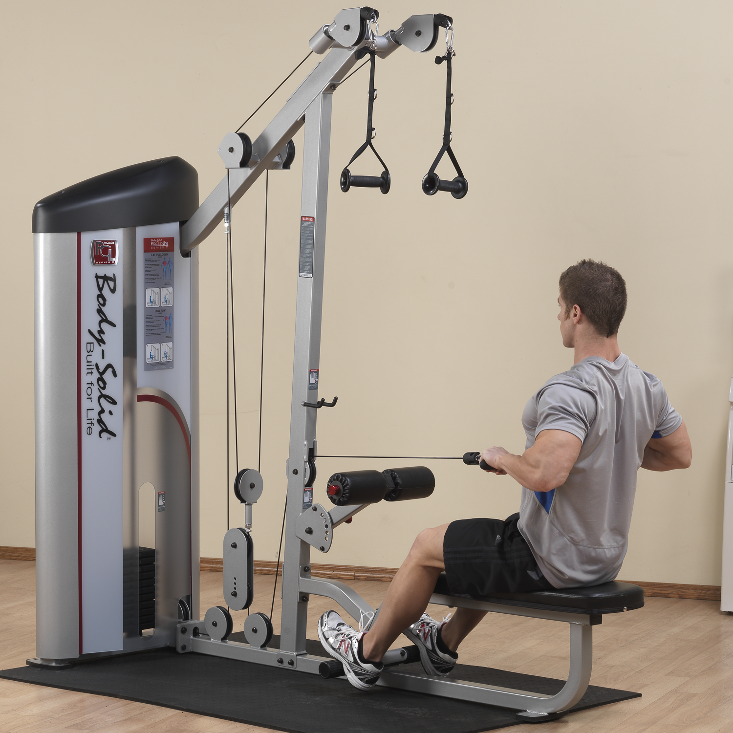 Body-Solid S2LAT Pro ClubLine Series II Lat Pulldown & Seated Row
