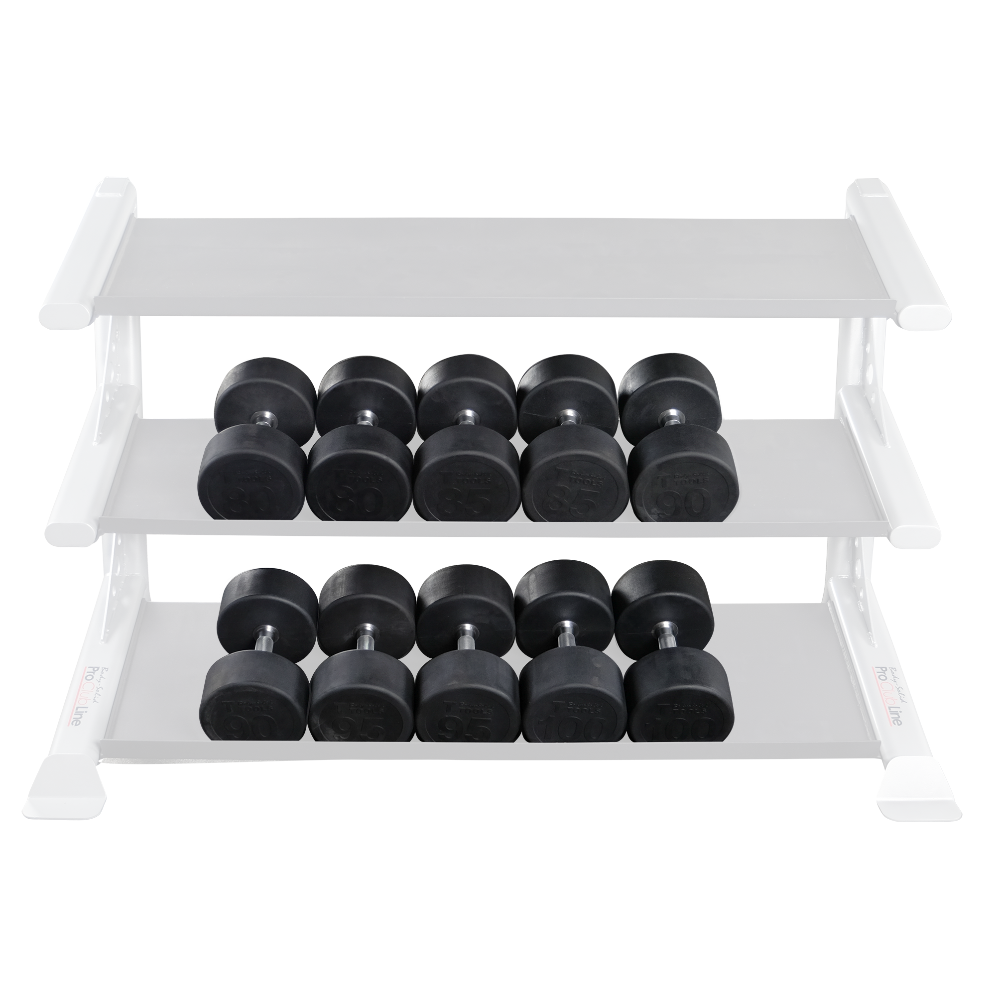 Body-Solid Rubber Round Dumbbell Sets (Without Rack)