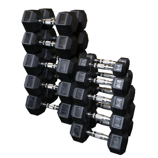 Body-Solid Rubber Hex Dumbbell Sets