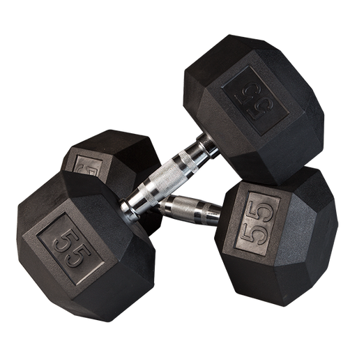 Body-Solid SDR Rubber Hex Dumbbells (Sold Individually)