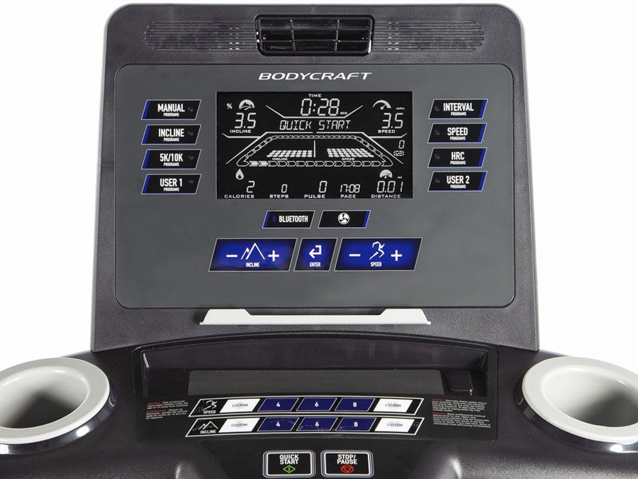 "Bodycraft T1000 Treadmill with 9"" LCD Screen"