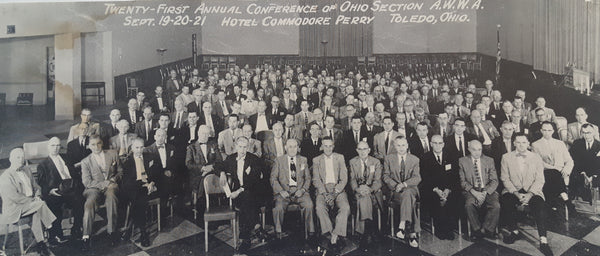 Ohio Section AWWA 21st Annual Conference - Hotel Commodore Perry, Toledo, Ohio Sept 19-21, 1956