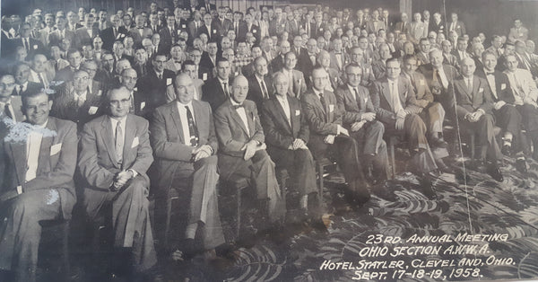 Ohio Section AWWA 23rd Annual Meeting - Hotel Statler, Cleveland, Ohio Sept 17-19, 1958