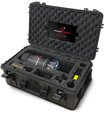 Rinnovision 360 Manhole Inspection camera in Carrying Case