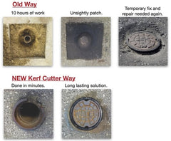 Kerf Cutter Valve Box Repair Tool makes a Clean and Quick Repair