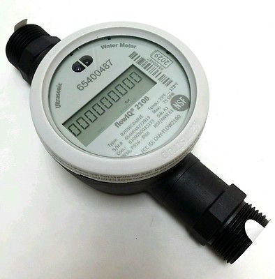 "Kamstrup FlowIQ 2100 Ultrasonic Water Meter, 5/8"" x 3/4"" US Gallon, Polymer body"