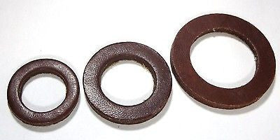 "5/8"", 3/4"", and 1"" Paraffin Treated LEATHER Water Meter Gaskets"