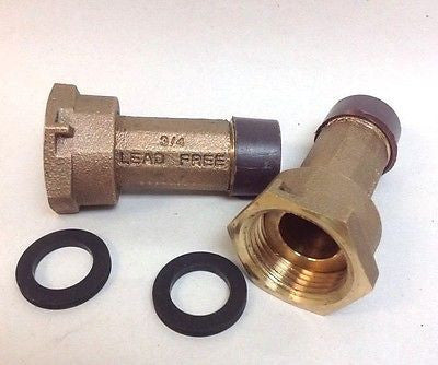 "(LOT/12) 3/4"" Water Meter Couplings, LEAD FREE brass, 3/4"" Swivel x 3/4 male NPT"