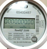 "Kamstrup FlowIQ 2100 Ultrasonic Water Meter, 5/8"" x 3/4"" Cubic Foot, Polymer body"