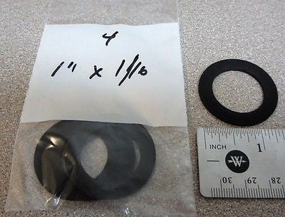 "Pkg/4, 1"" x 1/16"" Neoprene Rubber Water Meter Gasket/Washer for 1"" size meters"