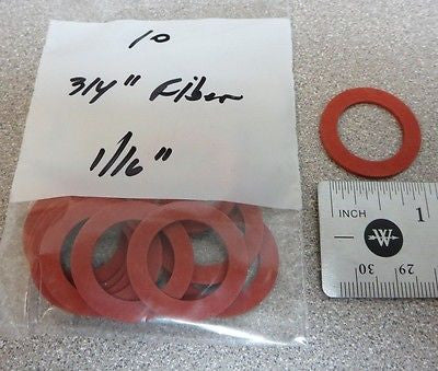 "Pkg/500, 3/4"" x 1/16"" FIBER Water Meter Gaskets, for 5/8"" x 3/4, or 3/4"" meter"