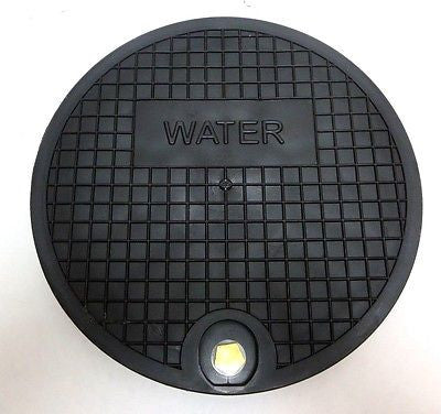 "Nicor Type A Water Meter Box Cover, 12.25"" Polymer Lid, fits 11.25"" ID Ring"