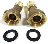 "3/4"" Water Meter, RV Garden Hose Adapter Couplings for 5/8 x 3/4 meters FGHxMGH"