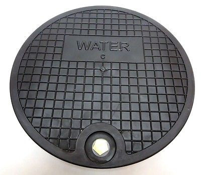"Nicor Type C Water Meter Box Cover,  12.5"" Polymer top Lid, fits 11.5"" I.D. Ring"