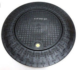 "Plastic Water Meter Box Flat Ring and Lid for 18"" I.D. Pipe or Meter Pit Tile"