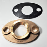 "2"" Lead-free Brass Oval 2-bolt Water Meter Flange For 2"" Water Meter W/ Gasket"