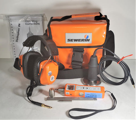 Sewerin Stethophon 04 handheld leak detector - Wired Headphone Kits with Soft Bag