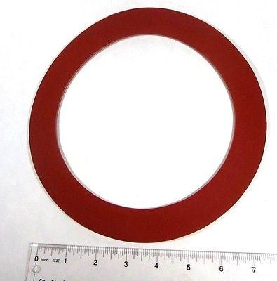 "6"" X 1/8"" Red Rubber Water Meter Flange RING Gasket, 1 PAIR"