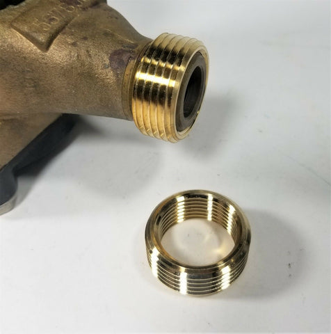 "Pair of meter thread bushings 1/2"" x 3/4"" AWWA Meter Threads"