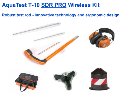 Sewerin Aquatest T-10 Acoustic Leak Locator - SDR Wireless Kits