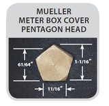 Trumbull 4-Way Meter Box & Curb Box Hand Key, Standard, Large, & Mueller Pentagon