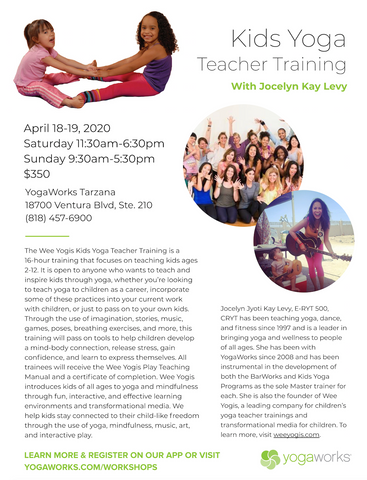 Kids Yoga Teacher Training 2020