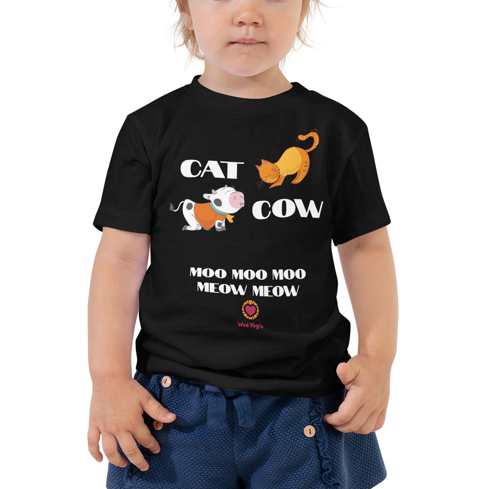 Cat Cow Toddler Premium Tee | Bella + Canvas 3001T