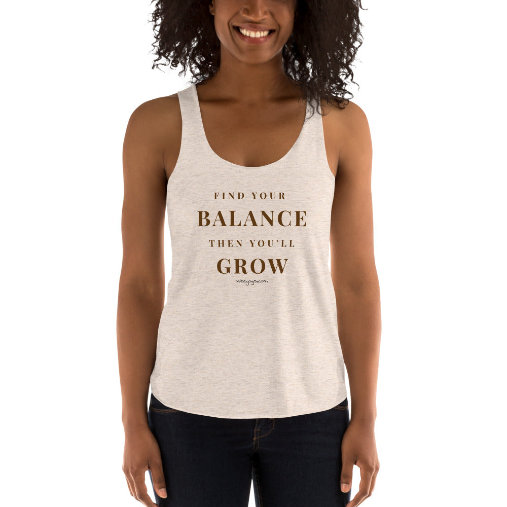 Tree Pose Quote Women's Tri-Blend Tank Top | American Apparel TR308