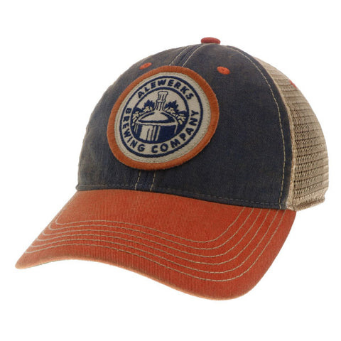 Alewerks Navy Orange Patch Hat