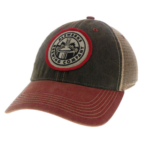 Alewerks Black Red Patch Hat