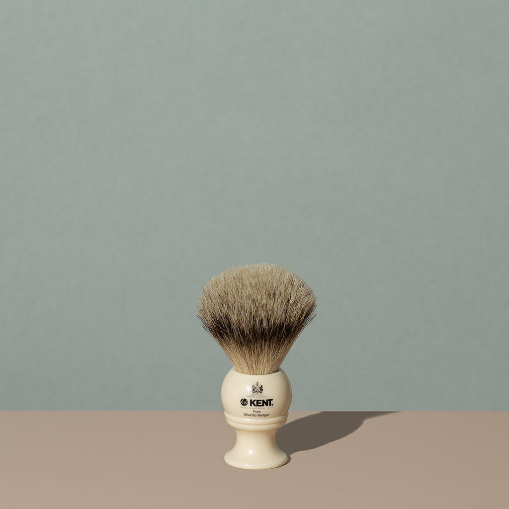 Kent Silvertip Shaving Brush - Cream