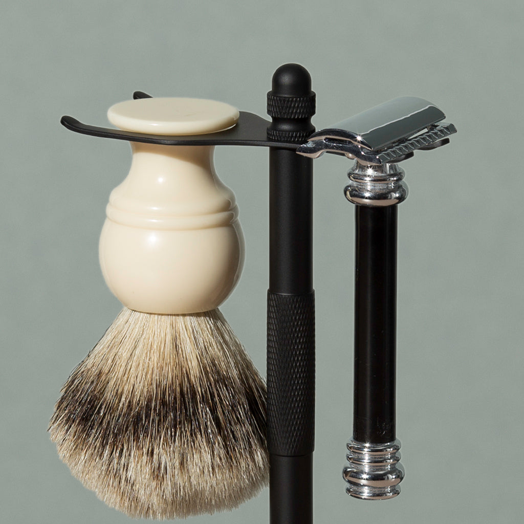 Badger Brush and Safety Razor Stand